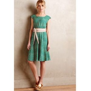 Anthropologie Maeve Evaline Smocked Dress